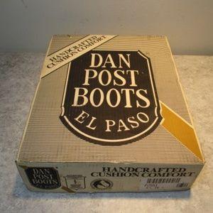 Dan Post USA Genuine Lizard Tip Cowboy Boots 9.5EW